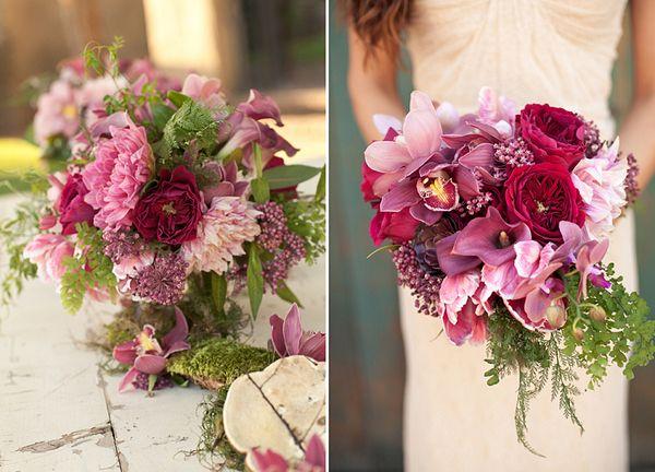 Herbstromantik  Blumenschmuck Hochzeit  Blumendeko
