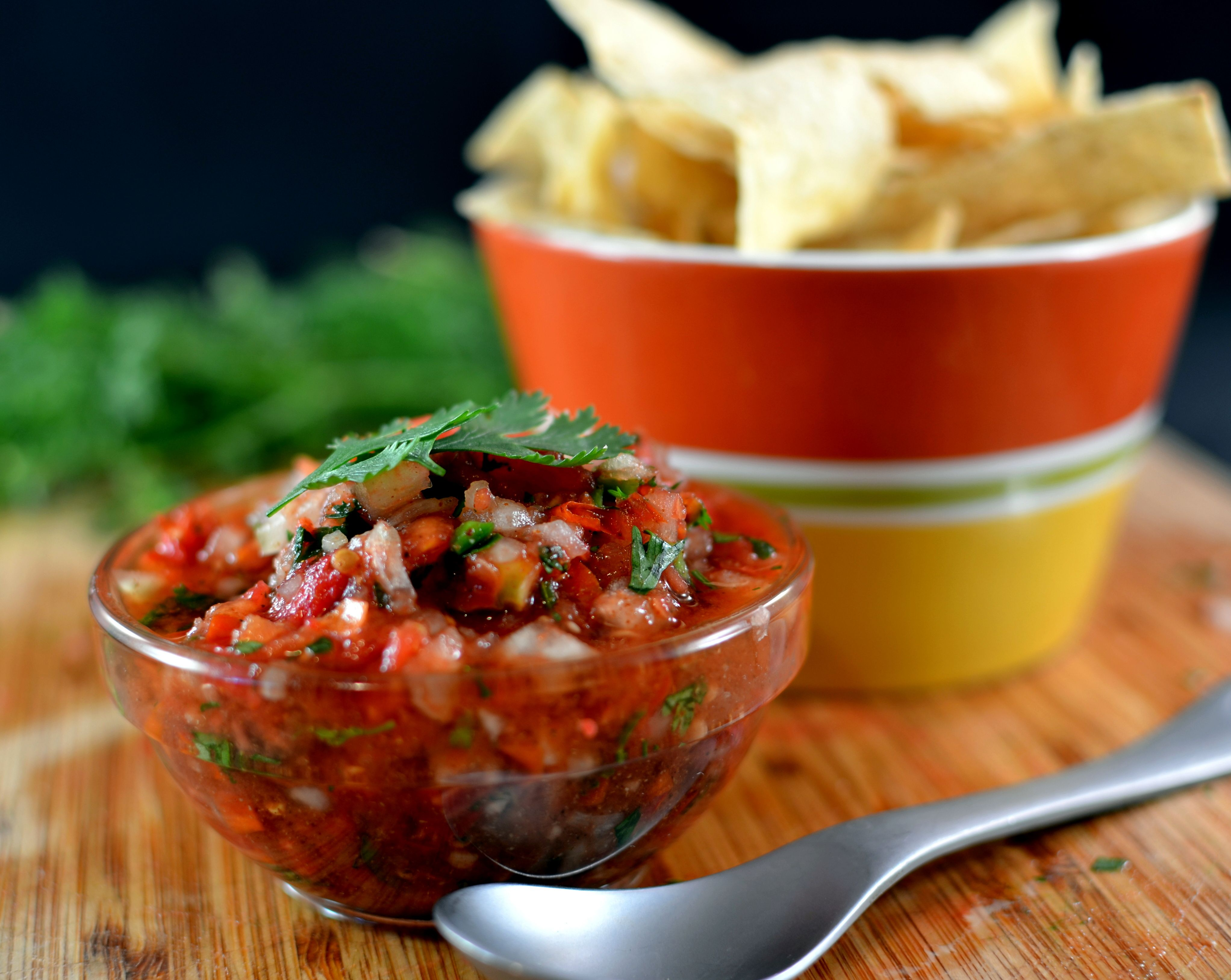 Fresh tomatoes jalapeno and cilantro plus onion and some spices food forumfinder Choice Image