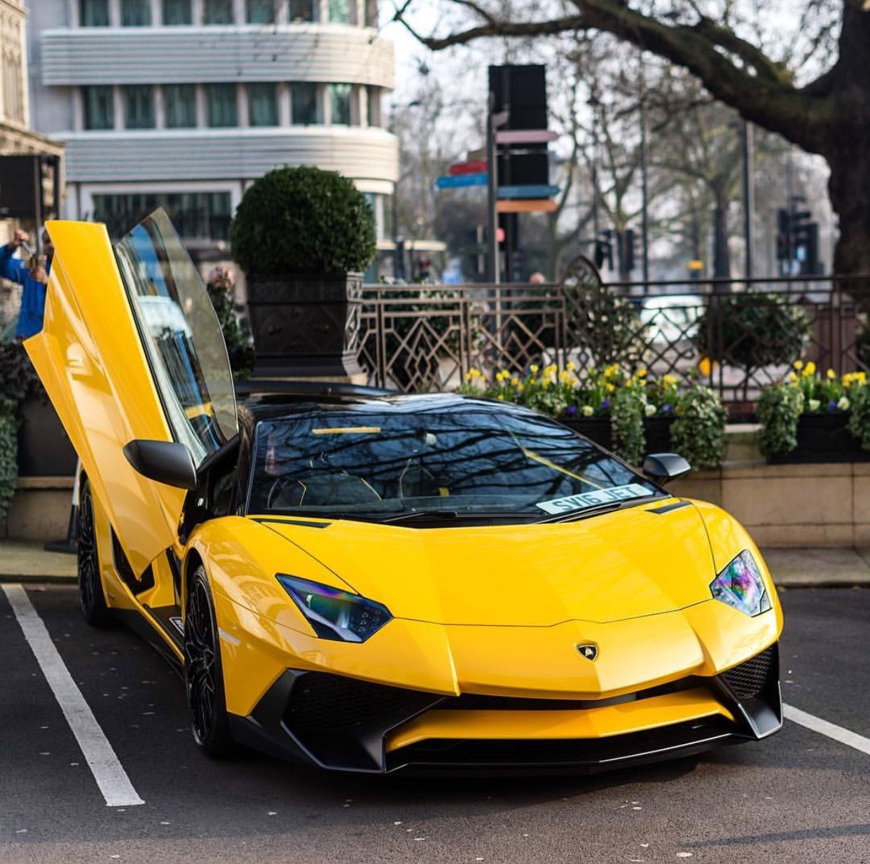 Lamborghini Aventador Super Veloce Roadster Painted In Giallo Horus Photo  Taken By: @horsepower_hunters On