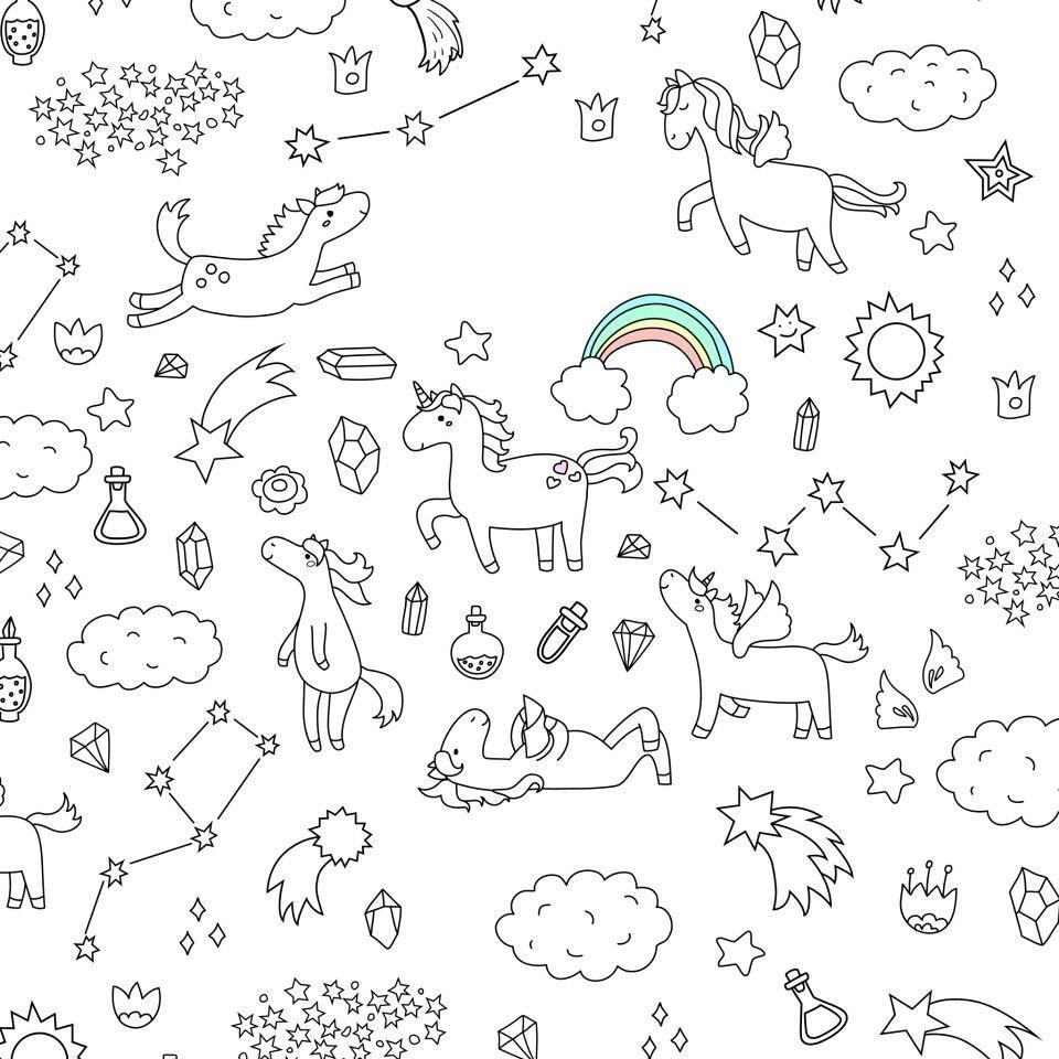 Pin By Julia Julitka On Edinorozhki Unicorns Unicorn Wallpaper Cute Unicorn Doodle Illustration