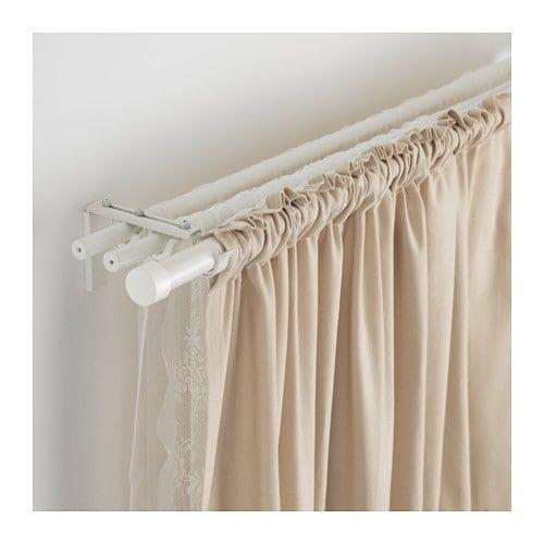 Ikea Hugad White Curtain Rod