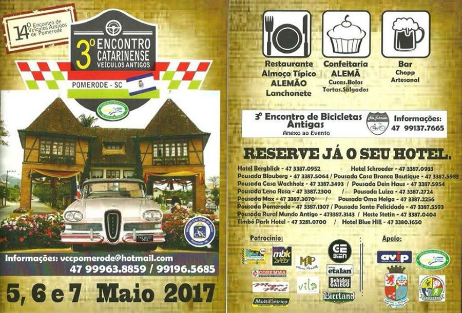Veteran Car Club de Joinville - Agenda