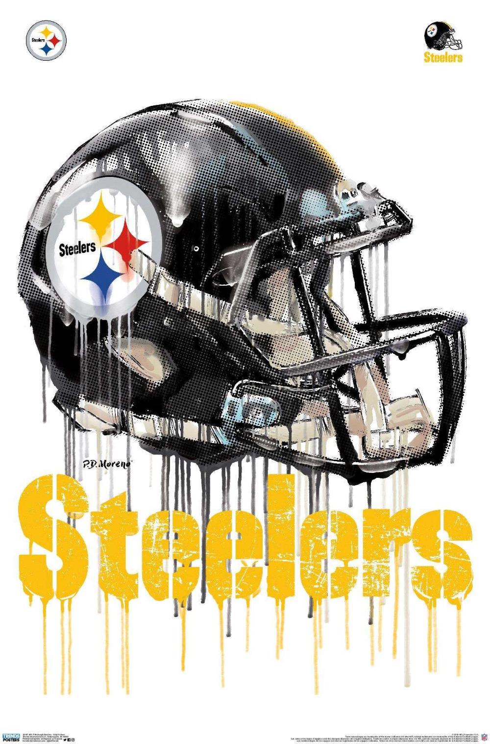 NFL Pittsburgh Steelers Drip Helmet 20 Pittsburgh