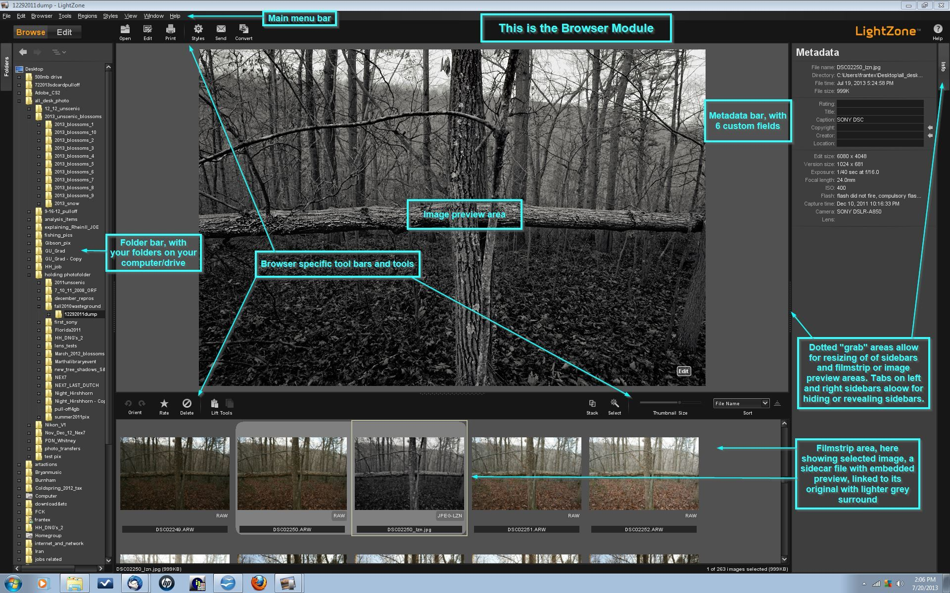 LightZone OSS digital darkroom Photo editor free