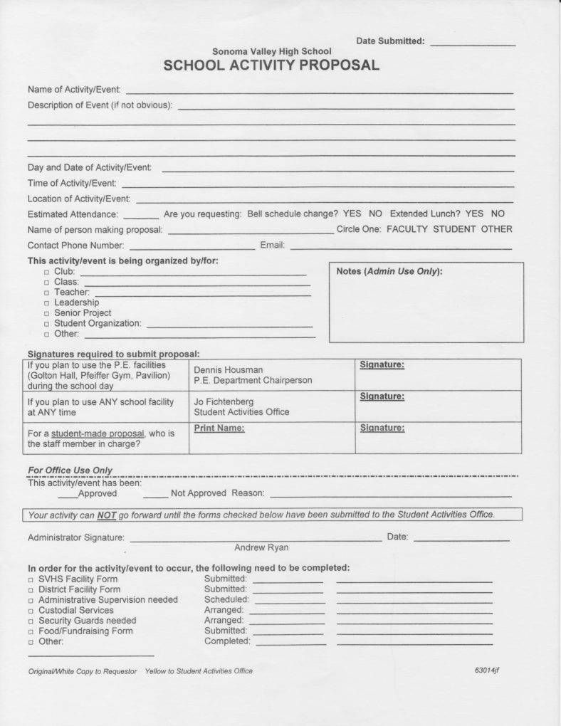 9+ Activity Proposal Templates PDF, Word Contract
