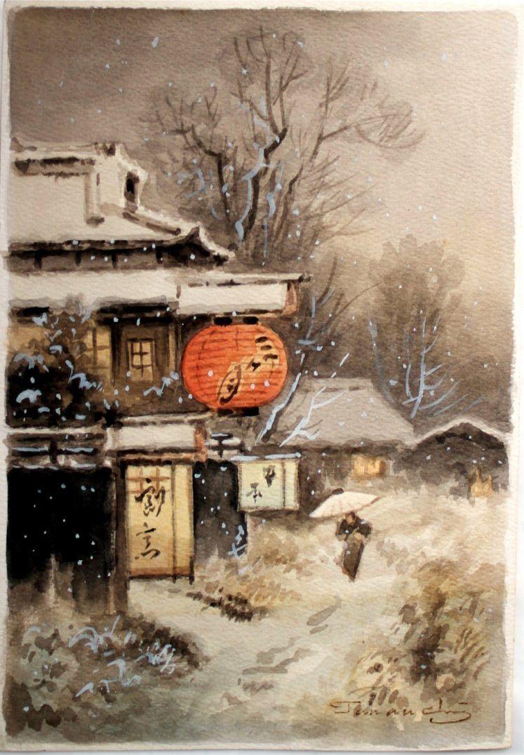 Winter Light By Fukutaro Terauchi Japan Painting Asian Art