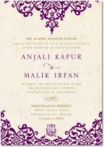 2013 Invitation Trends Moroccan Ethnic Wedding Invitations