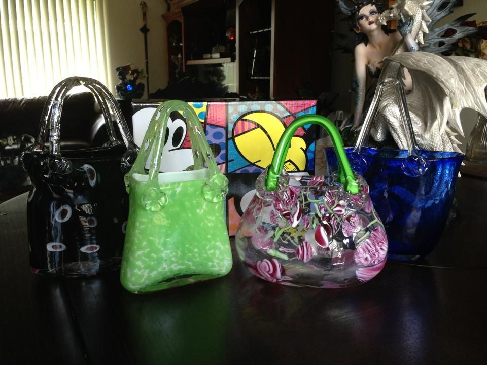 My Glass Purse Vases