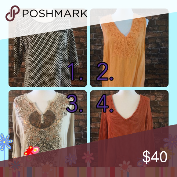 Group D.  Bundle of 4 tops. Clearance Sale! Tops Blouses