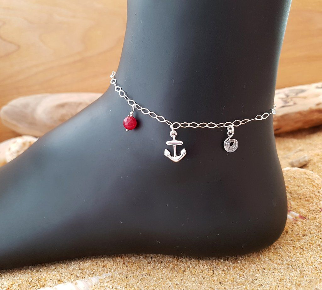 bracelets and anchor bracelet mushroom bear pin anklets charm hemp anklet dancing handmade