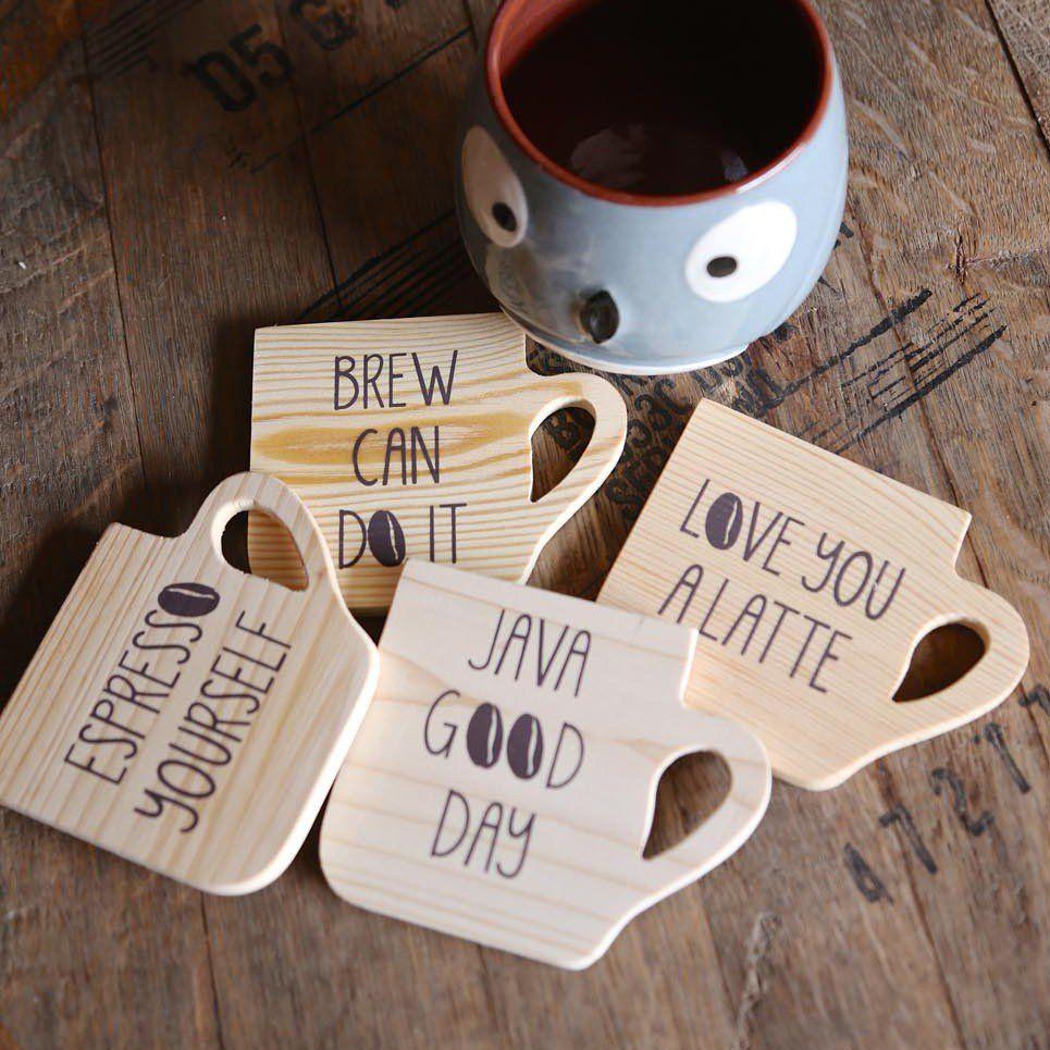 Coffee Break Coaster Set Coffee coasters, Tea coaster