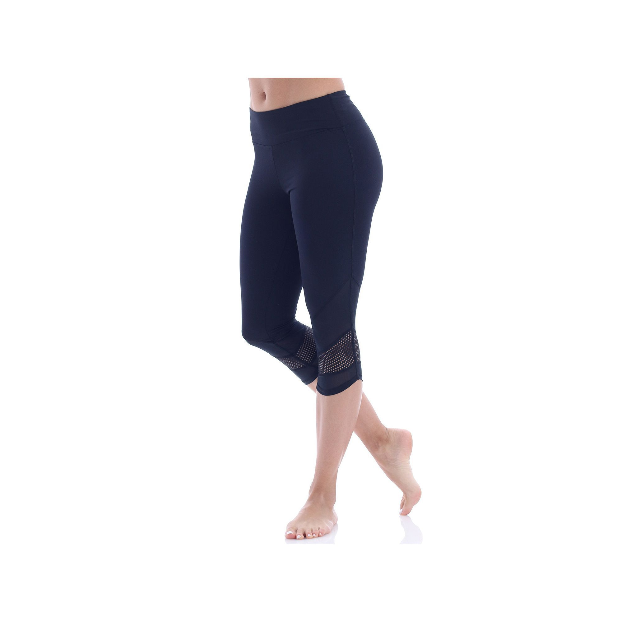 d46d38326565a Women's Balance Collection Ava Edged Out Capri Leggings, Size: Medium, Black