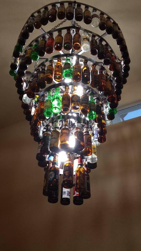 Beer Bottle Chandeliers Six tier beer bottle chandelier beer bottle lights and chandeliers six tier beer bottle chandelier audiocablefo