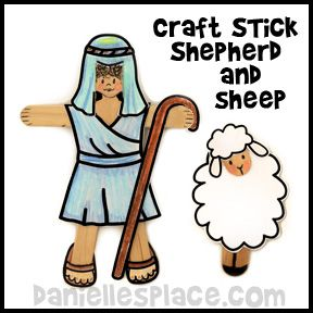 Shepherd and Sheep Bible Craft for Sunday School from www.daniellesplace.com