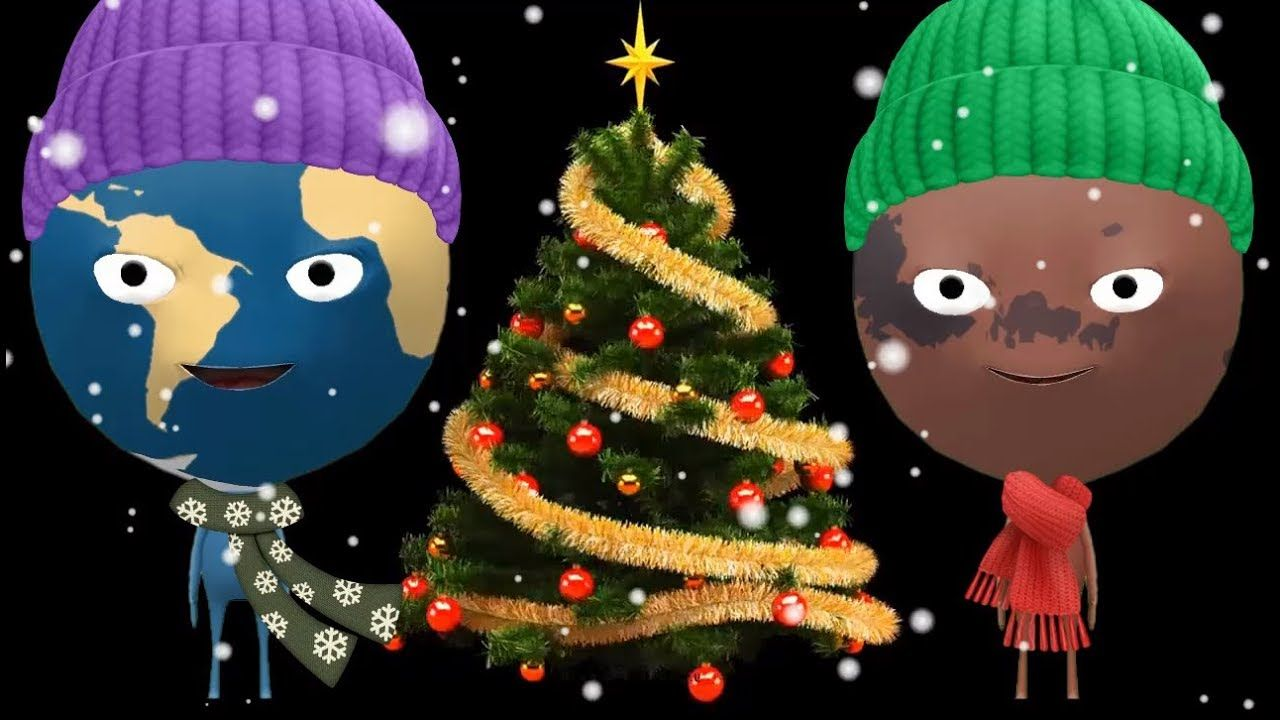 O Christmas Tree O Christmas Tree Song In Space Solar System Nursery Rhymes Songs Nursery Rhymes Songs Kids Songs Rhymes Songs