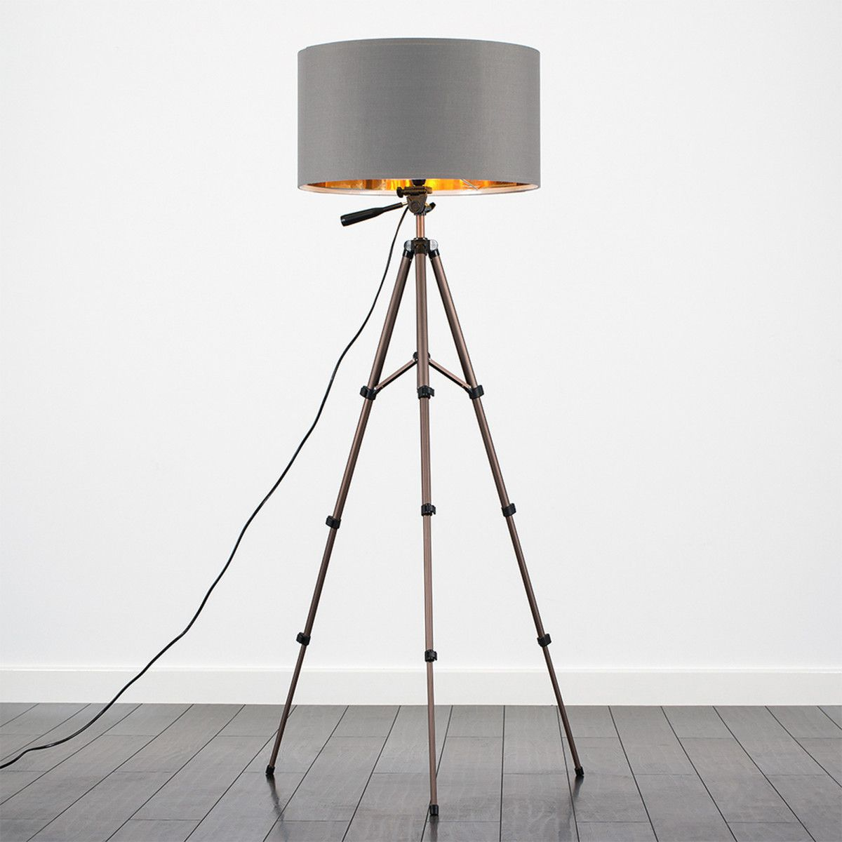iconic lighting. Hogan Bronze Telescopic Floor Lamp, Grey Iconic Lighting I