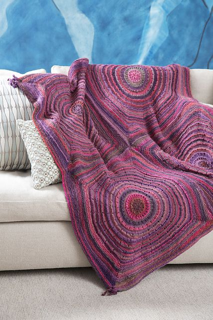 Squared Shades Throw Pattern By Ann Regis Knitted