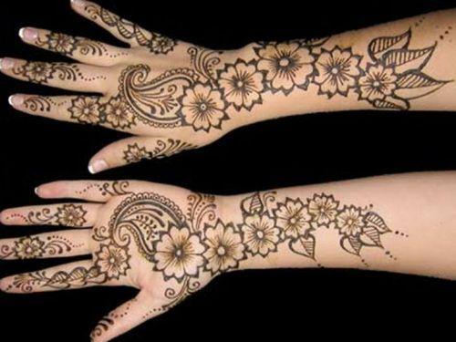 Full Arm Mehndi Designs : Eid mehndi mubarak and designs