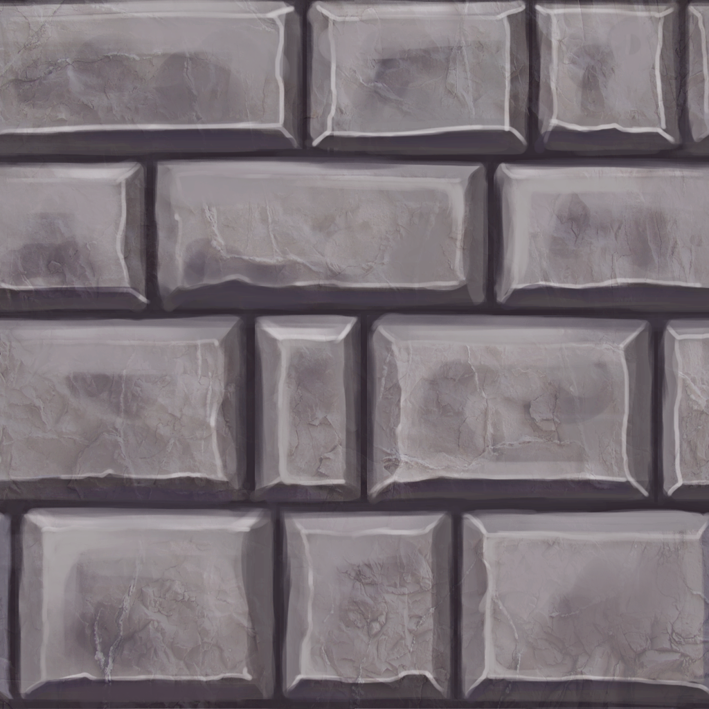 Gray Cartoon Brick Wall Texture : Stone wall handpainted textures hand painted texture