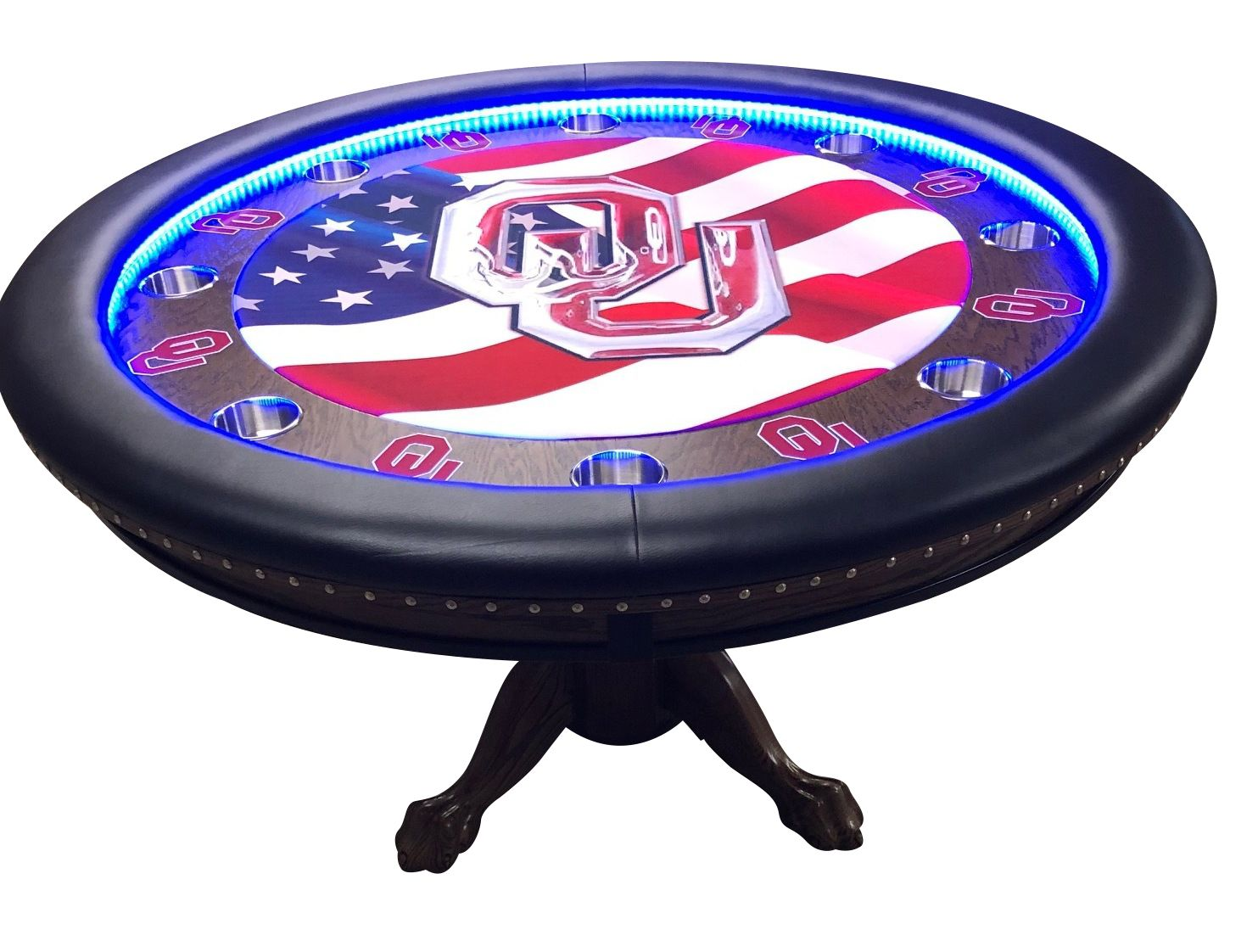 Pin By Thebestpokersite Com On Custom Poker Tables Unique Tables Poker Table Custom Poker Tables Round Poker Table