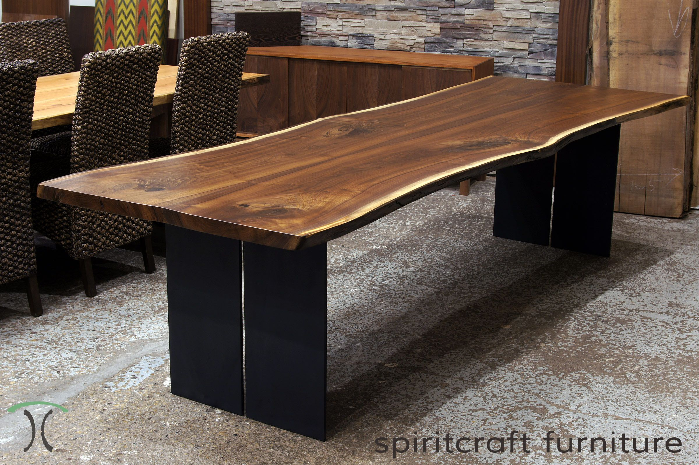 live-edge-chicago-area-walnut-slab-dining-tables-by-spiritcraft ...