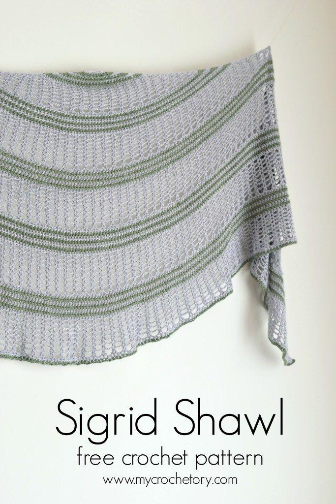Sigrid Shawl - crescent shaped shawl by en 2018   Háčkovaná móda ...