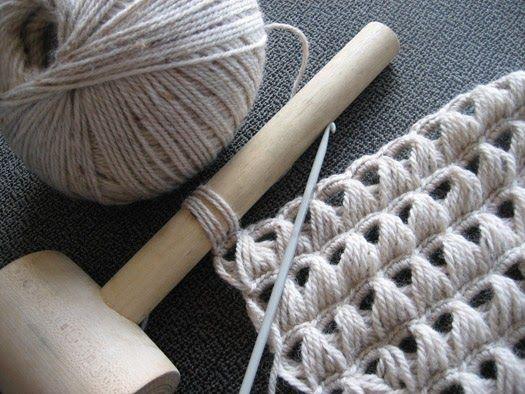 Resultado de imagen de punto palo de escoba | Revistas Crochet ...