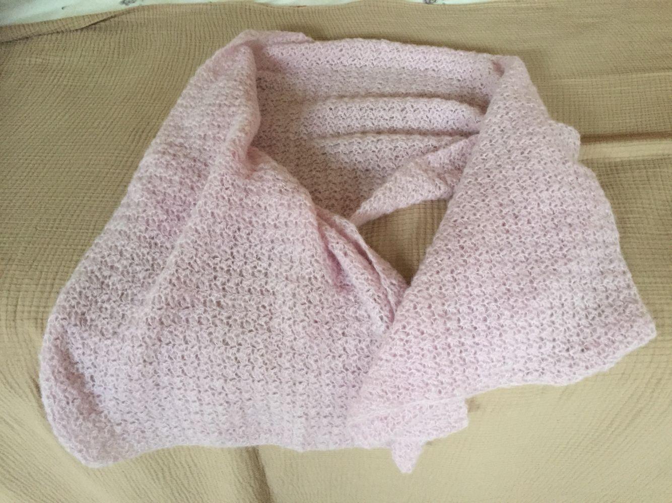 Mooie sjaal geborstelde alpaca met zijde