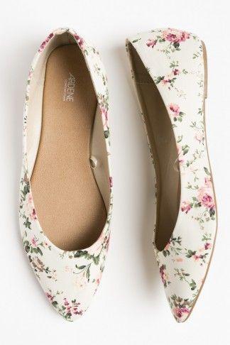 Talons plats pointus floraux - Ballerines - Chaussures   shoes ... d6312c029286