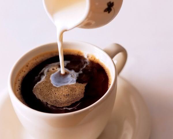 Cream in your coffee