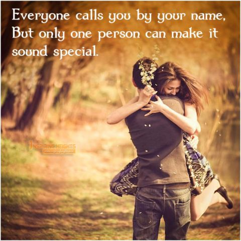 Only one person can make it your name sound special.