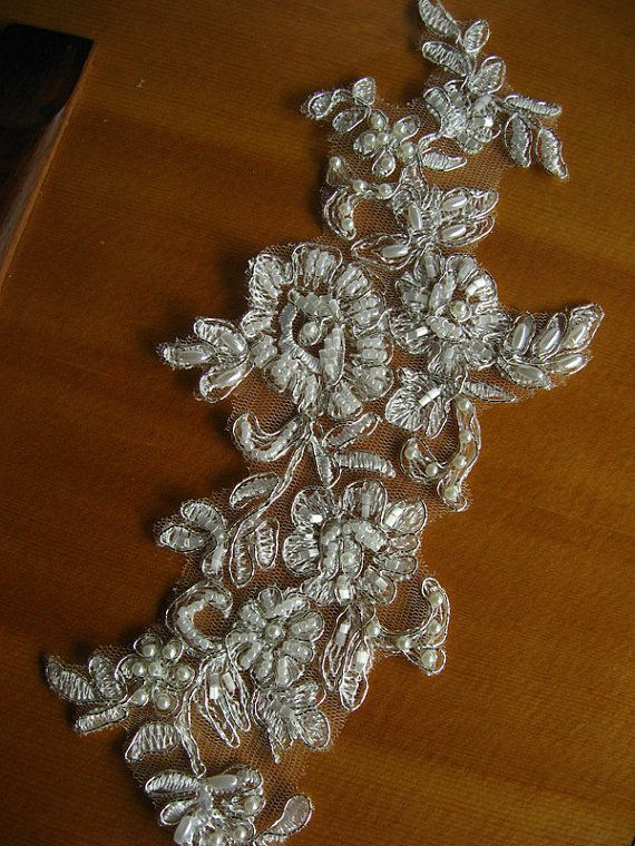 1000  images about wedding / bridal appliques and silk cloth ...