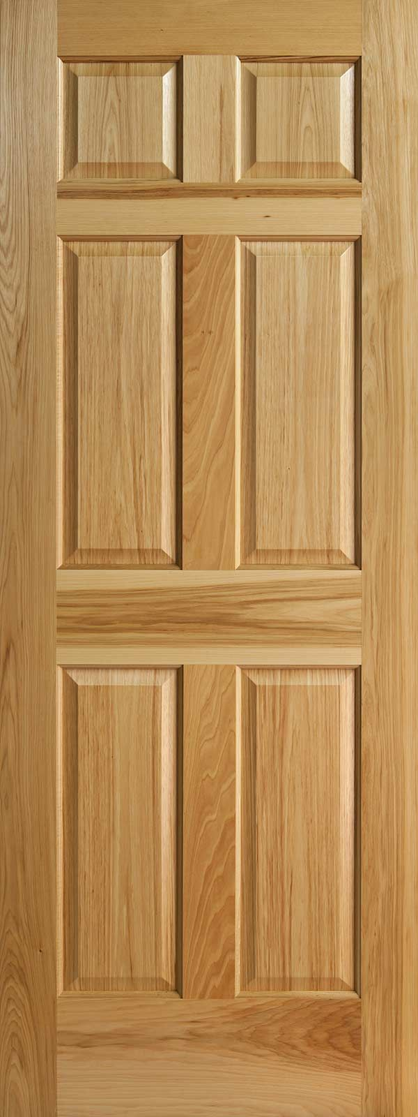 Hickory 6 Panel Wood Interior Door