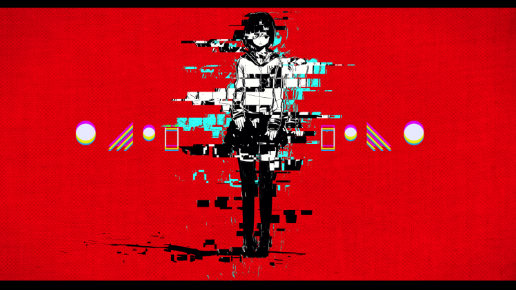 24 Red Anime Art Wallpaper Red Glitch Art Wallpapers Hd Desktop And Mobile Backgrounds Download Red Anime Wallpaper In 2020 Glitch Art Anime Art Digital Wallpaper
