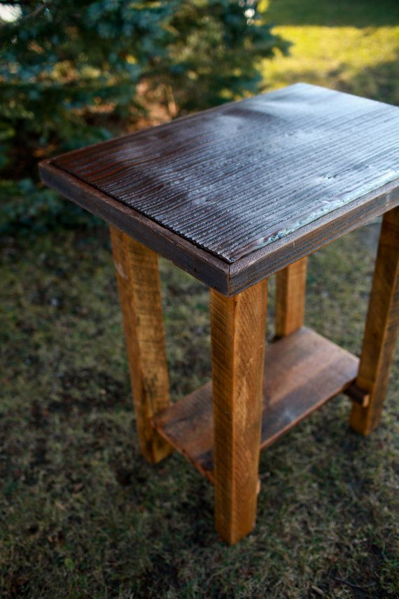 Beau Barn Wood Pub Table Tin Top Rustic Reclaimed By TheReclaimedNation