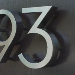 Eichler House Numbers MidCentury Modern House Numbers Neutra