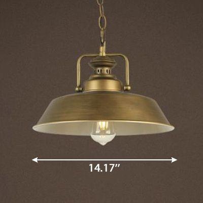 Dark Antique Brass Finish Vintage 1-Bulb Hanging Light ...