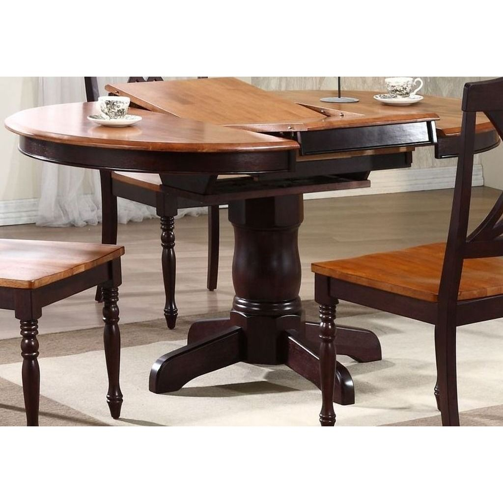 This Is A 42 Inch Round Dining Table With Self Storing