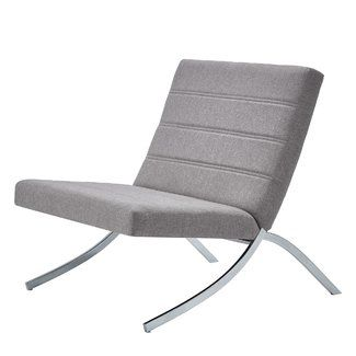 Miraculous Wade Logan Balderas Linen Lounge Chair With Metal Leg Machost Co Dining Chair Design Ideas Machostcouk