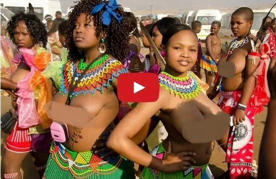 African Girls Dancing Naked For Their King - Nude Pic-9650