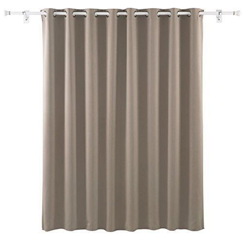 Deconovo Wide Width Grommet Thermal Insulated Khaki Blackout Window Curtain  For Bedroom 80 Inch X 84
