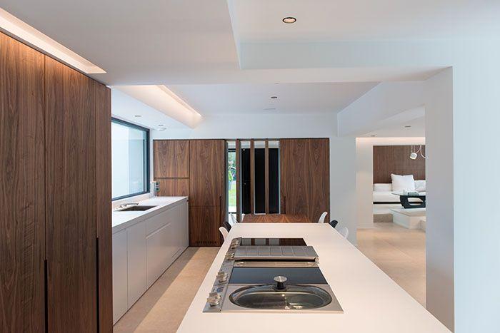 Maison moderne / Design intérieur / Contemporain / Cuisine white et ...