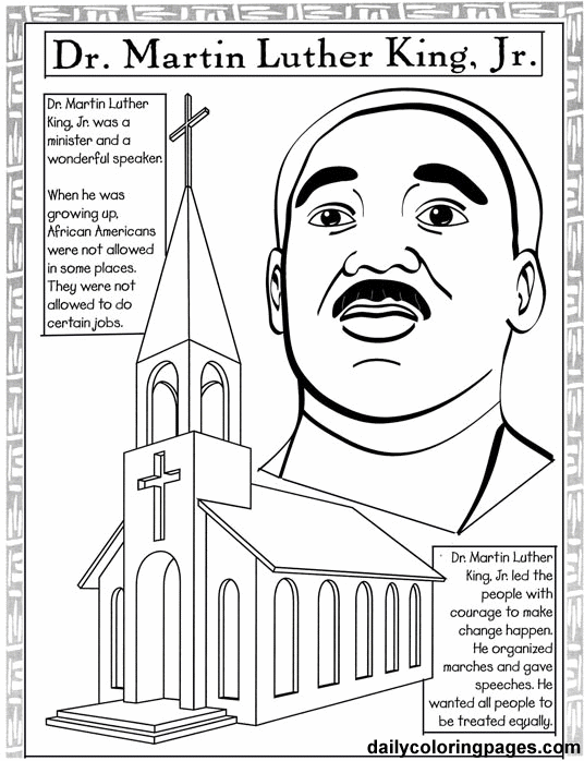 Martin Luther King Holiday Coloring Pages Who Is MLK And Why Does He Inspire So