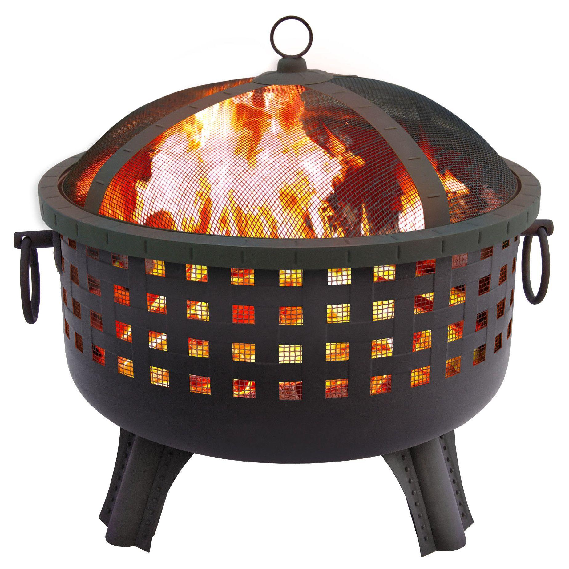 Landmann garden lights savannah fire pit u reviews wayfair deck