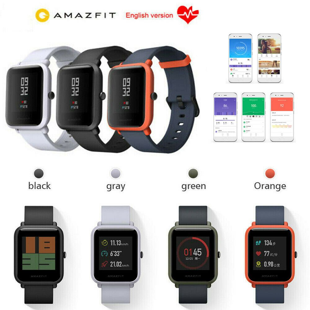 Xiaomi Huami Amazfit Bip Gps Ip68 Smart Watch Heart Rate Sleep Monitor Universal Amazfit Bip Gps Heart Hu Smart Watch Silicone Watch Band Heart Bracelet