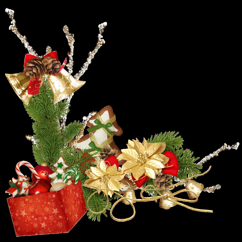 Tube Image Noel.Tube Noel Decorations Poinsetia Or Cadeaux Boules