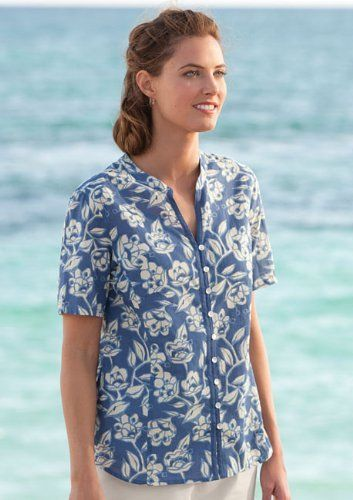 Floral-print Cotton-lawn Shirt Orvis. $44.00