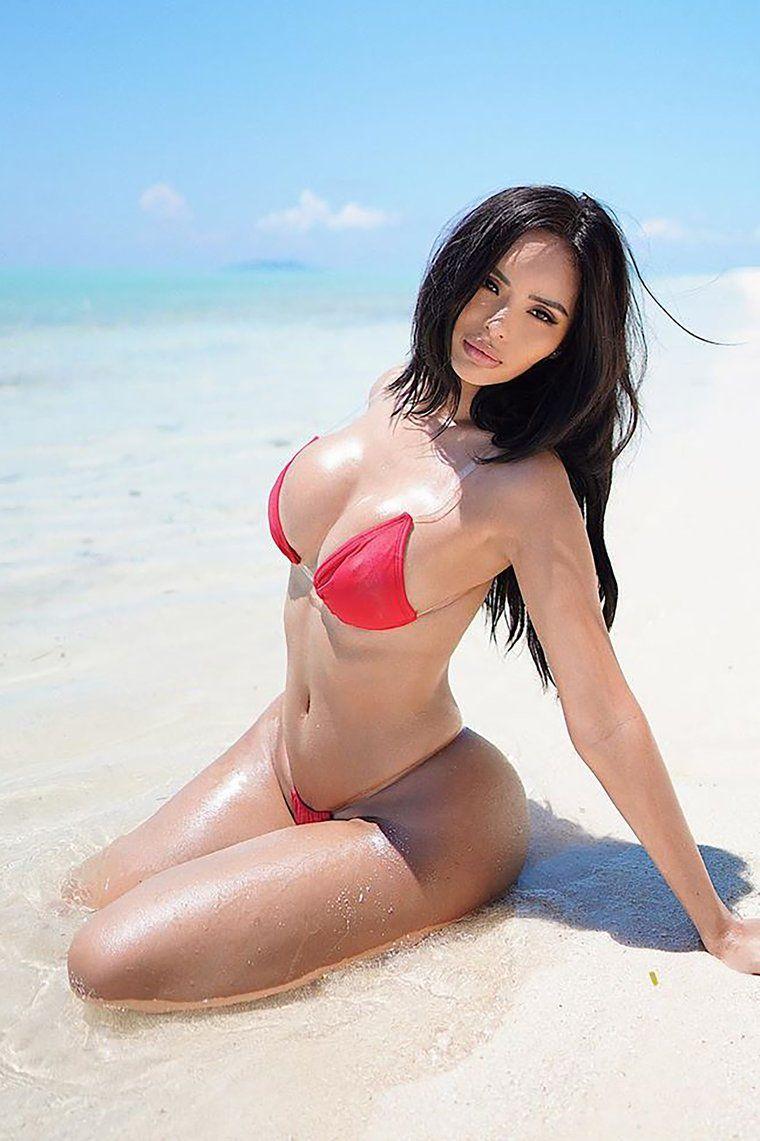 Clear Skies 2 Piece Pvc Strap Bikini Red