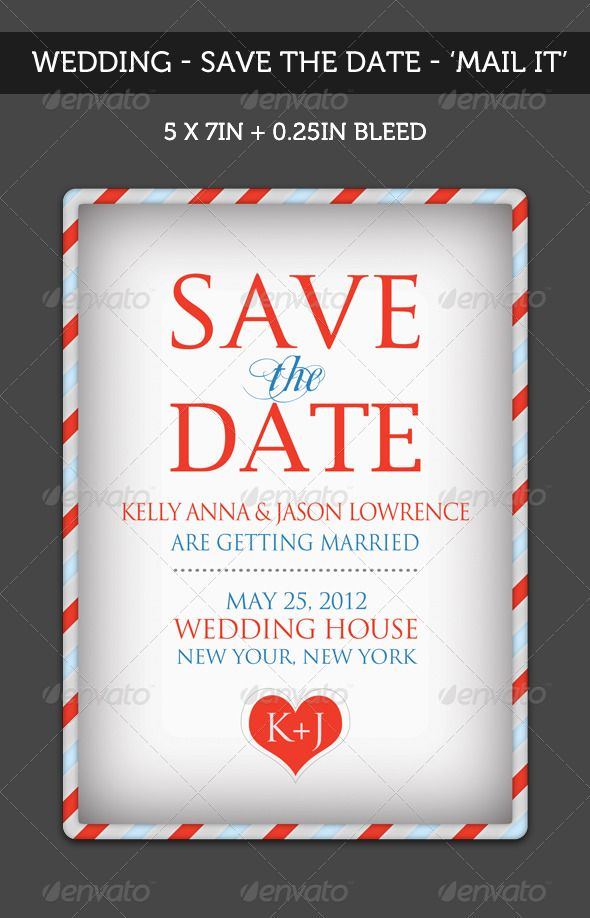 Wedding - \'Save the Date\' - Mail It | Pinterest | Print templates ...