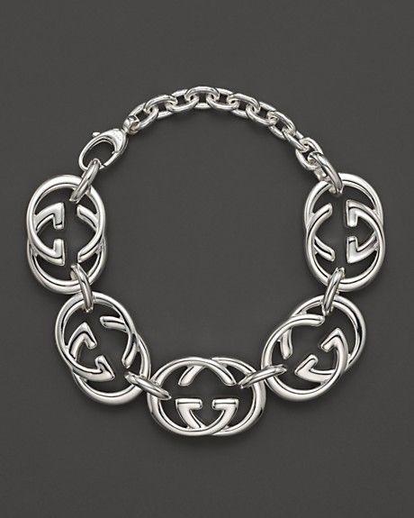 4a985f6ebc5fcf GUCCI - SILVER britt BRACELET | Bracelets | Link bracelets ...